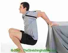 Archery chest and shoulder stretch