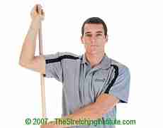 Gridiron shoulder and rotator stretch
