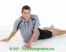 Kickboxing rotating stomach stretch