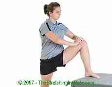 Lacrosse upper hamstring stretch
