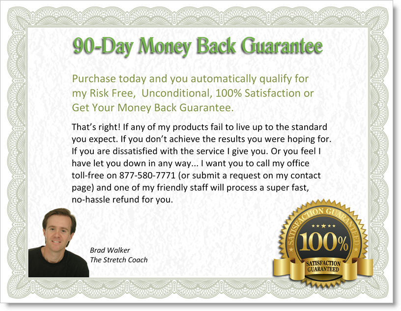 Risk Free, 90-Day Money Back Guarantee