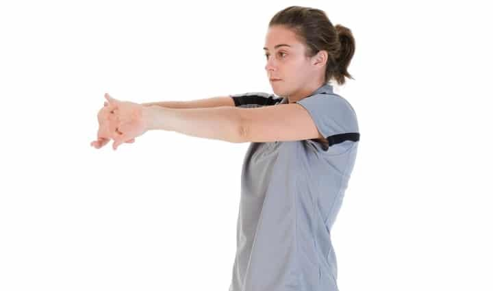 Palms-Out Forearm Stretch