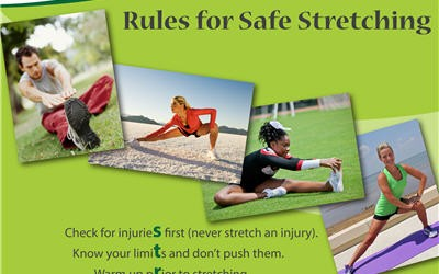 Free 10 Rules for Safe Stretching Mini Poster
