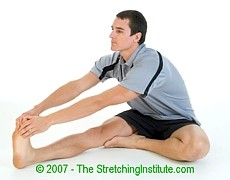 Soccer hamstring stretch