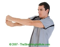 Volleyball wrist and forearm stretch