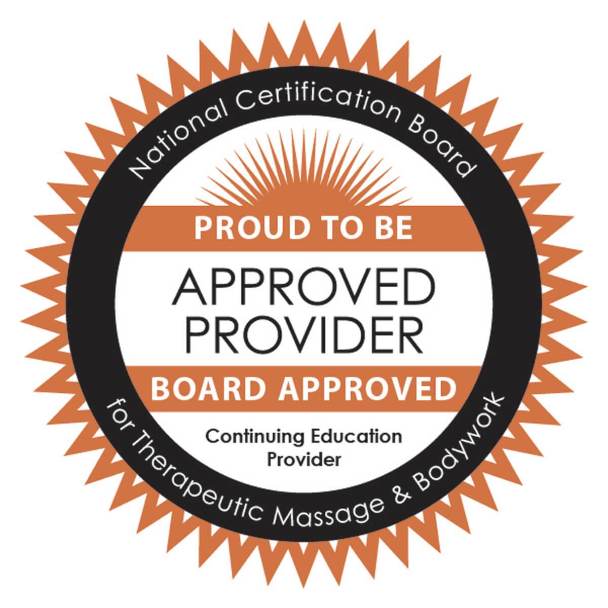 NCBTMB Approved Provider