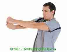 Badminton wrist and forearm stretch