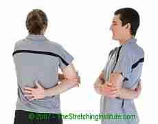 Badminton shoulder stretch