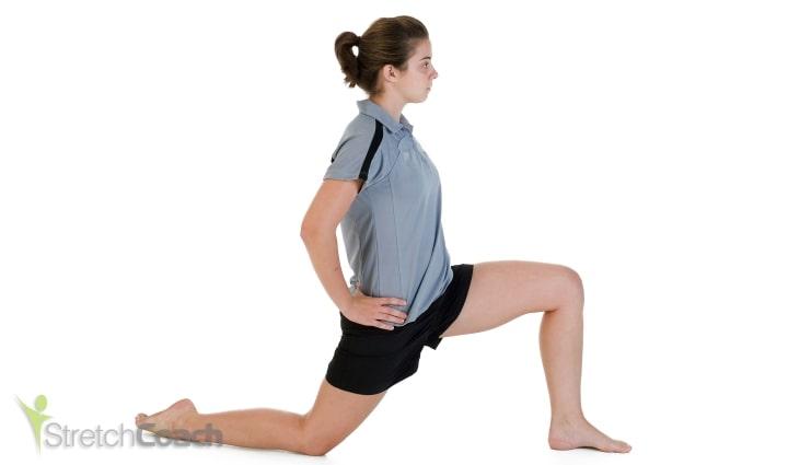 Hip and quad stretch for ballroom dancing