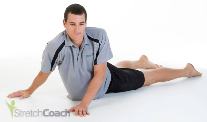 Stomach and side stretch for basketball