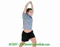 Basketball hip and quad stretch