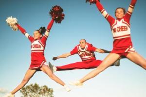 Cheerleading stretches