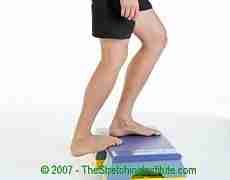 Cycling calf and Achilles stretch