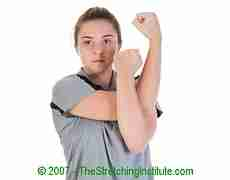 Golf shoulder stretch