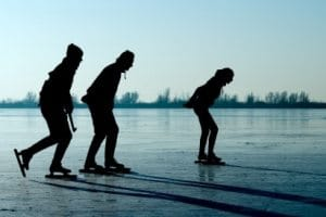 Ice skating stretches