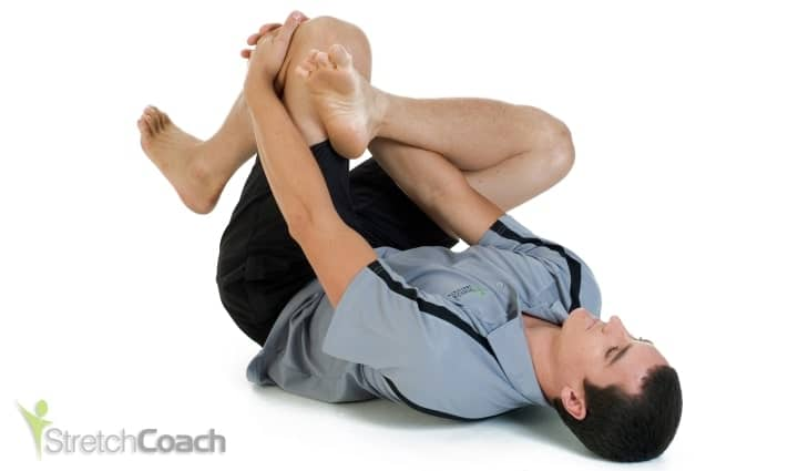 Lying Leg-resting Piriformis and Glute Stretch