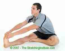 Martial arts sitting hamstring stretch