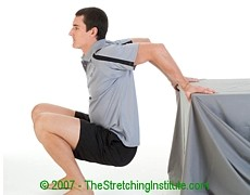 Motocross chest and shoulder stretch