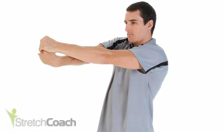 Wrist and forearm stretch for mountain biking