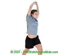 Mountain biking hip and side stretch