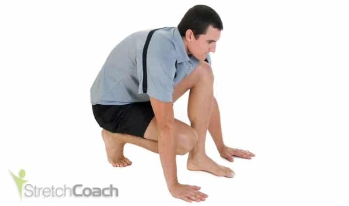 Plantar fasciitis stretch for the foot, toes and arch