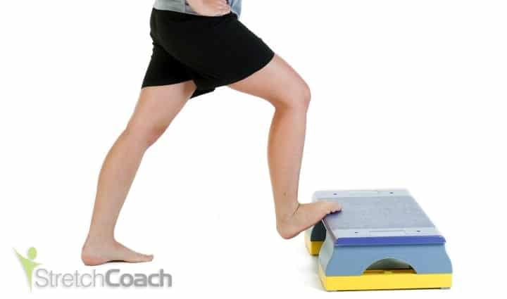 Lower calf and Achilles stretch for roller derby