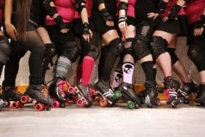 Roller derby stretches