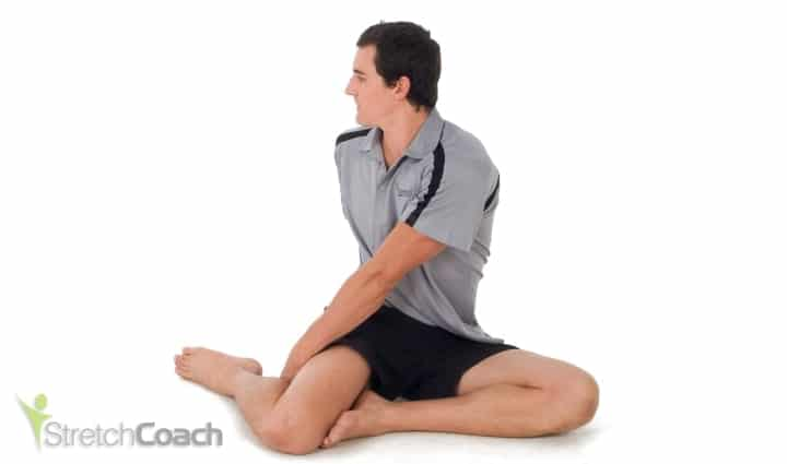 Sitting Rotational Sciatica Stretch
