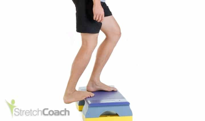 Lower calf and Achilles stretch for snowboarding
