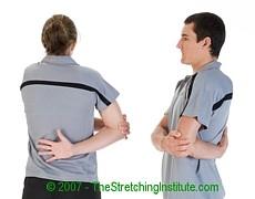 Softball shoulder and rotator stretch