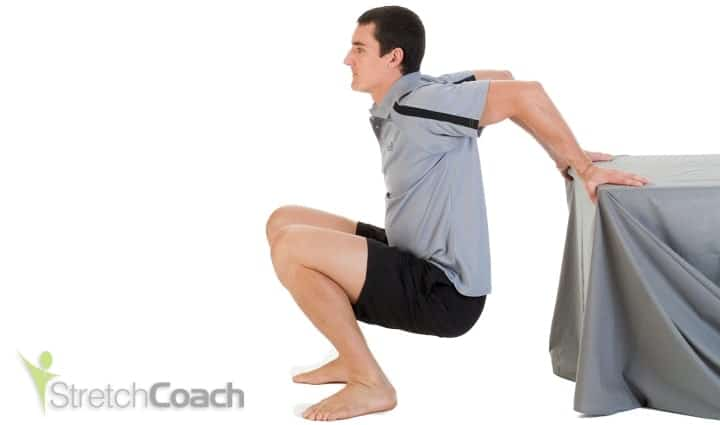 Shoulder and chest stretch for squash