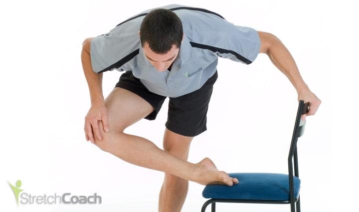 Standing Leg-tuck Sciatica Stretch
