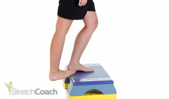 Upper calf stretch for swimming