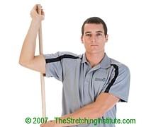 Swimming rotator stretch