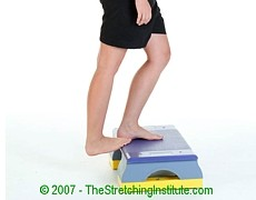 Table tennis upper calf stretch