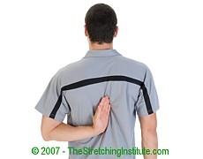 Triathlon shoulder stretch