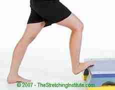 Triathlon lower calf and Achilles stretch