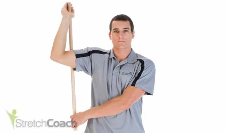 Shoulder and rotator stretch for volleyball