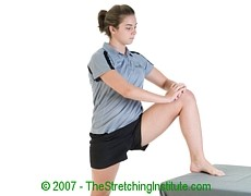 Wrestling upper hamstring stretch